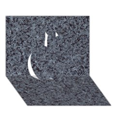 Granite Blue Black 3 Apple 3d Greeting Card (7x5)