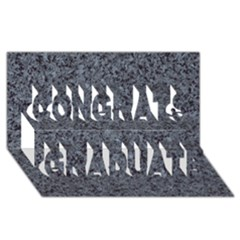 GRANITE BLUE-BLACK 3 Congrats Graduate 3D Greeting Card (8x4)  by trendistuff