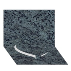 Granite Blue Black 2 Heart Bottom 3d Greeting Card (7x5)