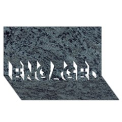 GRANITE BLUE-BLACK 2 ENGAGED 3D Greeting Card (8x4)