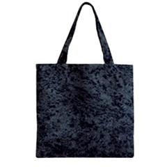 Granite Blue Black 2 Zipper Grocery Tote Bags by trendistuff