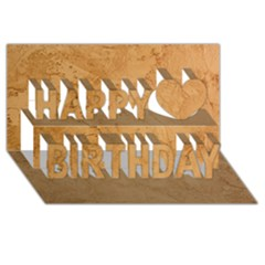 Faux Stone Happy Birthday 3d Greeting Card (8x4)