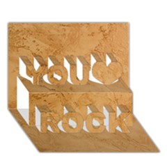 Faux Stone You Rock 3d Greeting Card (7x5)  by trendistuff