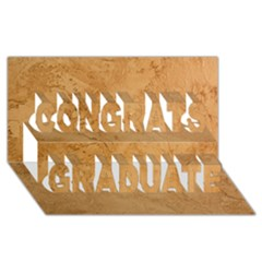Faux Stone Congrats Graduate 3d Greeting Card (8x4)