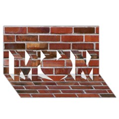 Colorful Brick Wall Mom 3d Greeting Card (8x4)