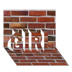Colorful Brick Wall Girl 3d Greeting Card (7x5)  by trendistuff