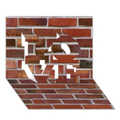Colorful Brick Wall Love 3d Greeting Card (7x5)  by trendistuff