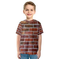 Colorful Brick Wall Kid s Sport Mesh Tees