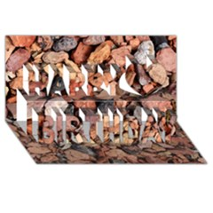 Colored Rocks Happy Birthday 3d Greeting Card (8x4)