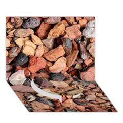 Colored Rocks Circle Bottom 3d Greeting Card (7x5)  by trendistuff