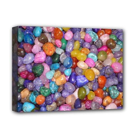 Colored Pebbles Deluxe Canvas 16  X 12   by trendistuff