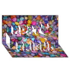Colored Pebbles Best Friends 3d Greeting Card (8x4)