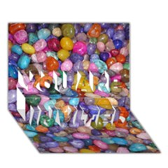 Colored Pebbles You Are Invited 3d Greeting Card (7x5)