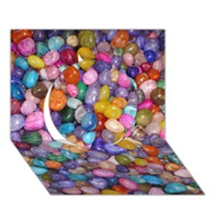 Colored Pebbles Circle 3d Greeting Card (7x5)  by trendistuff