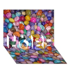 Colored Pebbles Hope 3d Greeting Card (7x5)