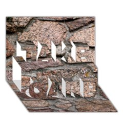 Cemented Rocks Take Care 3d Greeting Card (7x5)