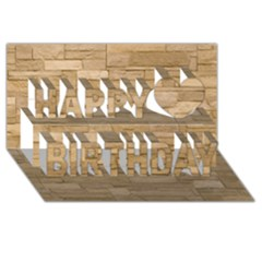 Block Wall 2 Happy Birthday 3d Greeting Card (8x4)  by trendistuff