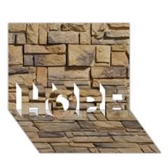 Block Wall 1 Hope 3d Greeting Card (7x5)  by trendistuff