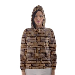 BLOCK WALL 1 Hooded Wind Breaker (Women) by trendistuff