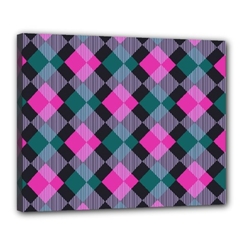 Argyle Variation Canvas 20  X 16  (stretched) by LalyLauraFLM