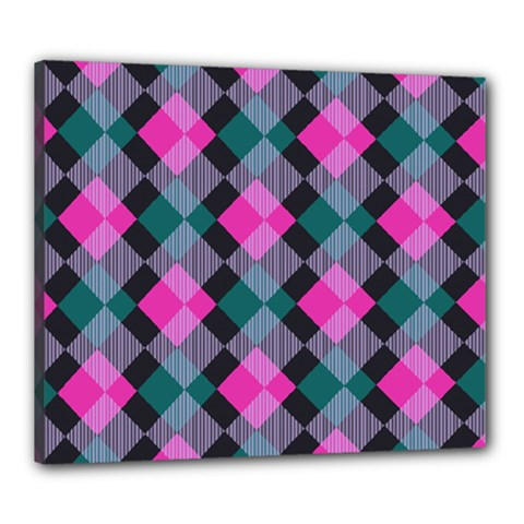 Argyle Variation Canvas 24  X 20  (stretched) by LalyLauraFLM
