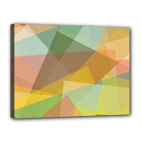 Fading Shapes Canvas 16  X 12  (stretched) by LalyLauraFLM