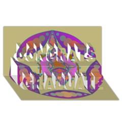 Mandala Congrats Graduate 3d Greeting Card (8x4)  by Valeryt