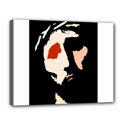 Christ Canvas 14  x 11  by Valeryt