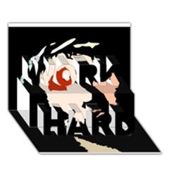 Christ Work Hard 3d Greeting Card (7x5)  by Valeryt