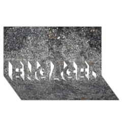 Black Mica Engaged 3d Greeting Card (8x4)