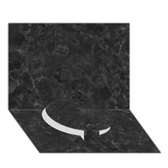 Black Marble Circle Bottom 3d Greeting Card (7x5)