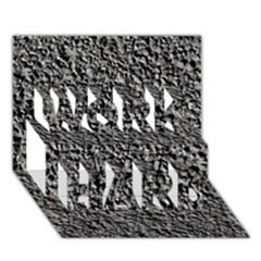 Black Gravel Work Hard 3d Greeting Card (7x5)