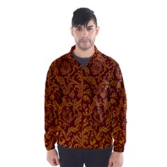 Royal Red And Gold Wind Breaker (men) by trendistuff