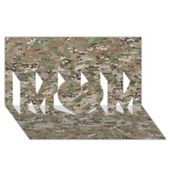 Camo Woodland Faded Mom 3d Greeting Card (8x4)  by trendistuff
