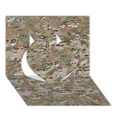 Camo Woodland Faded Heart 3d Greeting Card (7x5)