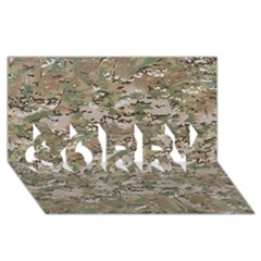 Camo Woodland Faded Sorry 3d Greeting Card (8x4)