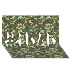 Camo Woodland #1 Dad 3d Greeting Card (8x4)