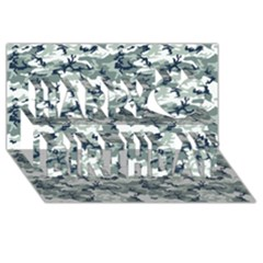 Camo Urban Happy Birthday 3d Greeting Card (8x4)