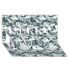 CAMO URBAN Merry Xmas 3D Greeting Card (8x4)  by trendistuff