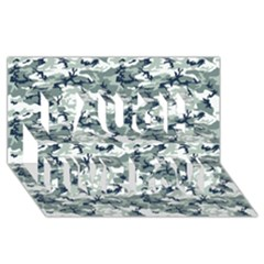 Camo Urban Laugh Live Love 3d Greeting Card (8x4)