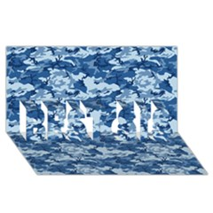 Camo Navy Best Sis 3d Greeting Card (8x4)