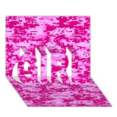 Camo Digital Pink Girl 3d Greeting Card (7x5)