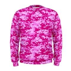 Camo Digital Pink Men s Sweatshirts by trendistuff