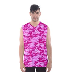 Camo Digital Pink Men s Basketball Tank Top by trendistuff
