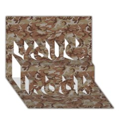 Camo Desert You Rock 3d Greeting Card (7x5)  by trendistuff