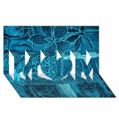 Blue Patchwork Mom 3d Greeting Card (8x4)