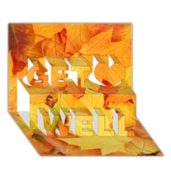 Yellow Maple Leaves Get Well 3d Greeting Card (7x5)  by trendistuff