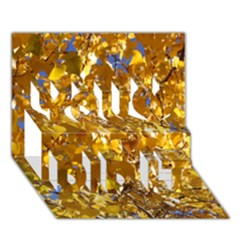 Yellow Leaves You Did It 3d Greeting Card (7x5)