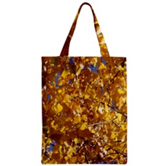 Yellow Leaves Zipper Classic Tote Bags by trendistuff