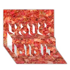 Red Maple Leaves You Did It 3d Greeting Card (7x5) by trendistuff